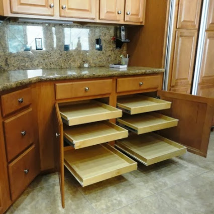 Kitchen pull out shelves for Oregon homes by slideoutshelvesllc.com