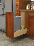 Single Slide Out Trash | 35 Quart | Wood Bottom Mount