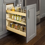 Drawer Base Cabinet No Wiggle Pull Out Spice Rack