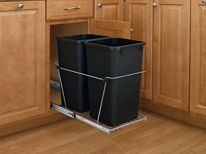 Double Slide Out Trash Black or Silver | 27qt