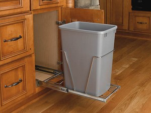 35qt silver trash pull out